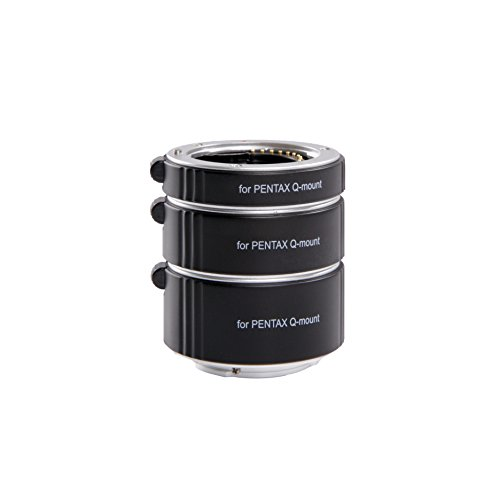 Movo Photo AF Macro Extension Tube Set for Pentax Q Mirrorless Camera System with 10mm, 16mm & 21mm Tubes (Metal Mount) by Movo