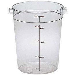 - Cambro RFSCW8135 Camwear Round Storage Container, 8 Qt., 6 Pack