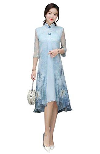 oriental silk dressing gown - 5