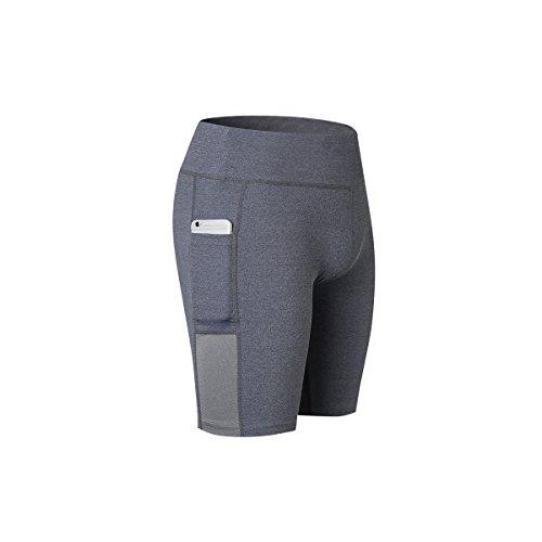 SilkScreen レディース ヨガパンツ 7、5インチ ポケット付き「UVカット?吸汗速乾」 着圧インナー 陸上タイツ フィットネス 下着 ヨガウェア ジム服 スポーツウェア