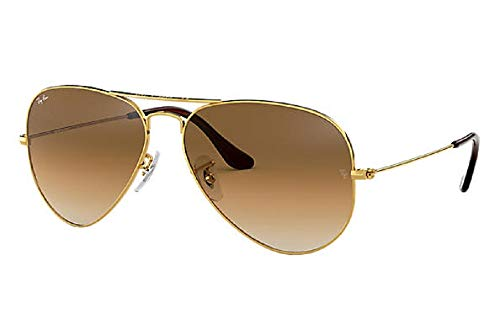 Authentic Ray-Ban Aviator 3025 RB3025 001/33 55mm Gold Frame / Brown Lens Small (Ray Ban 3025 Gold Brown)