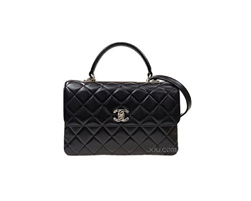 Chanel Purse Bag (Fashion Chanel Women's Black Diamond Lattice Chain Handbag)