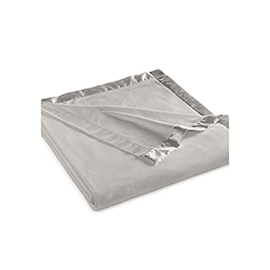 Martha Stewart Easy Care Soft Fleece Blanket (Queen, Grey)