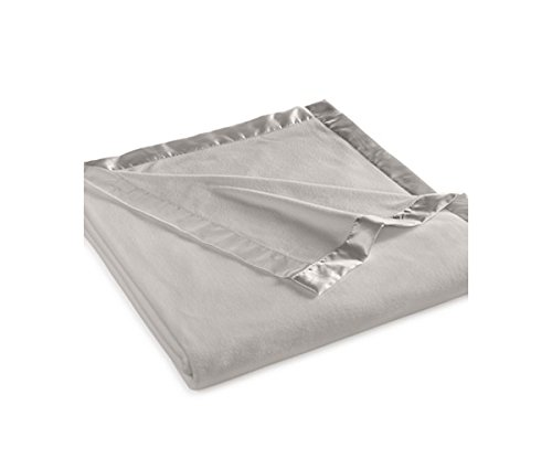 Martha Stewart Easy Care Soft Fleece Blanket (Queen, Gray)