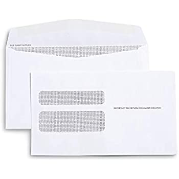Amazon com : 500 W2 Tax Envelopes - Designed for Printed W2