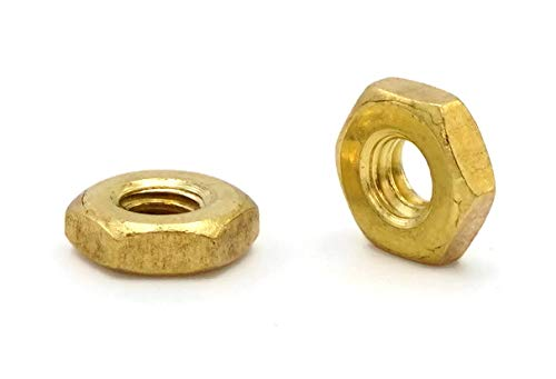 Hex Machine Nuts Brass - #8/32 (Flats 11/32'' x Thick 1/8'') Qty-250
