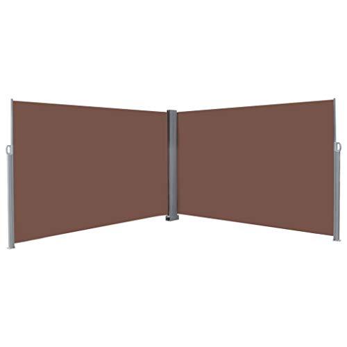 Tidyard Retractable Double Folding Side Awning Screen Fence Patio Garden, Terrace Balcony Retrac ...