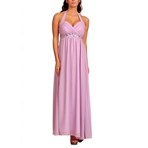 Fashion House Halter Neck Chiffon Empire Party Prom Evening Dress