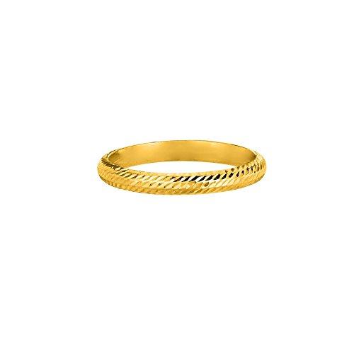 7 2.5mm Polish Textured Finish Comfort Fit Wedding Band Ring (Textured Comfort Fit Wedding Band)