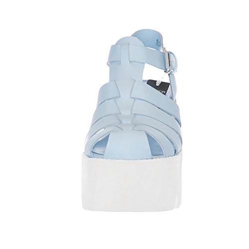 Windsor Smith Leather Platform Sky Sandalo Blue Fluffy TrwdqxZgT