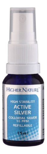 Higher Nature Colloidal Silver Pocket Spray - 15ml