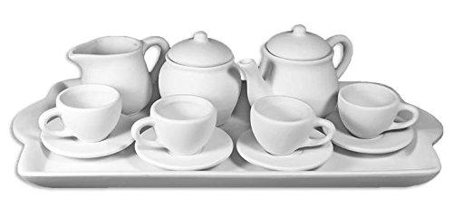 14 Piece Children's Little Tea Party Set - Paint Your Own Ceramic Keepsake