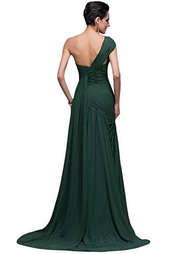 Chiffon Lang Ballkleid Dunkelgruen Abendkleider Missdressy EL7055 Damen 7xqpw1a