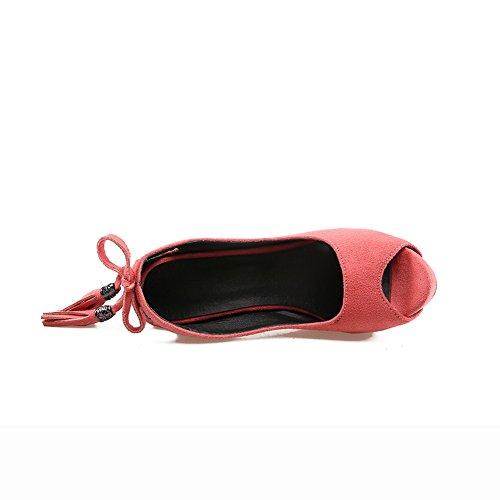 BalaMasa Womens Sandals Peep-Toe Peep-Toe Peep-Toe High-Heel Cold Lining Nubuck Dance-Ballroom Road Outdoor Urethane Sandals ASL04361 Pink ipWfFFTZ
