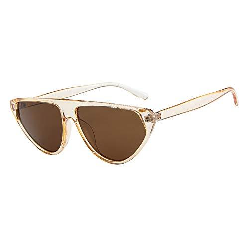 - LODDD Women Vintage Retro Glasses Unisex Fashion Mirror Lens Sunglasses