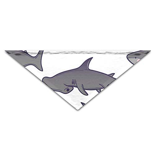OHMYCOLOR Sea Ocean Hammerhead Sharks Dog Bandanas Scarves Triangle Bibs Scarfs Retro Basic Dogs Neckerchief Cat Collars Pet Costume Accessory Kerchief for Large&Medium&Small Puppy -