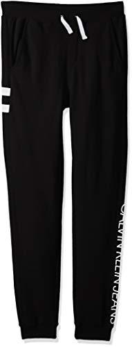 Calvin Klein Boys' Big Logo Waistband Jogger, True Black, X-Large (18/20)