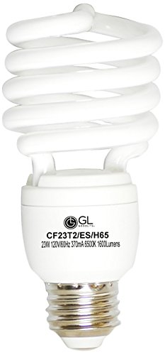 Lamp Hour 15000 Fluorescent Compact (Goodlite G-20284 23-Watt CFL 100-watt Replacement 1620-Lumen T2 Spiral Light Bulb with Super Long 15,000 Hour Life, Soft White, 25-Pack)