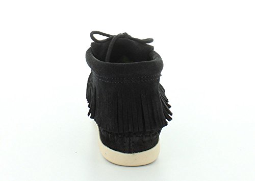 Minnetonka Boots Womens Venice Soft Suede Ankle Bootie 5.5 Black 459