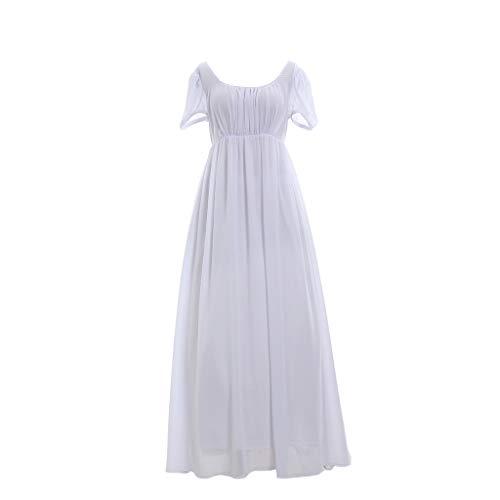 1791's lady Regency Ball Dress Jane Austen Gown Reenactment Costume (M:Height65-67 Chest36-37 Waist28-29) ()
