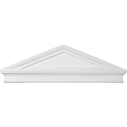 - Ekena Millwork PED43X14X02PC 43 7/8-Inch W x 14 1/8-Inch H x 2 3/8-Inch P Combination Peaked Cap Pediment