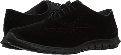 Cole Haan Lace Oxfords - Cole Haan Women's Zerogrand Wing OX, Black Velvet, 7.5 B US