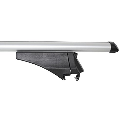 Menabo Car Roof Rack Bars for cars with roof railsTUV-GS approved bars including Mounting Kit.Material aluminium.Made in Italy.