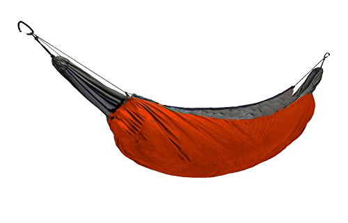 (WINGONEER Outdoor All Weather Camping Hammock Insulation NylonSleeping Bag, used as blankets,Camping Military Sleeping Insulate Reflect Heat Parcel hammock - Orange)