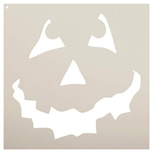 Halloween - Pumpkin Face Art Stencil - STCL761 - by StudioR12 (12