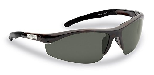 Flying Fisherman Spector Polarized Sunglasses, Tortoise Frame, Smoke - Sunglasses Around Amazon Wrap