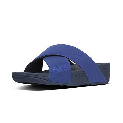 Fitflop Shimmerlux midnight Sandalias Punta Para Abierta Navy Con Luli Mujer Azul 399 Slides rTqv5xwrR