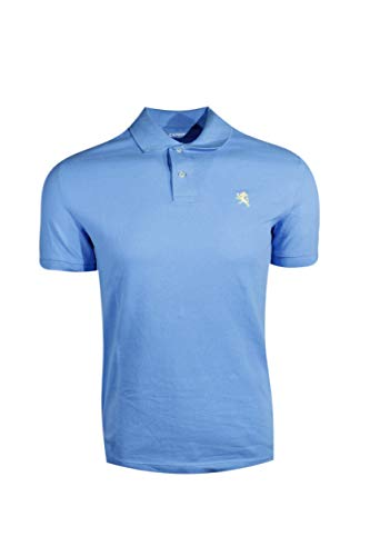 Express Mens Modern Fit Pique Polo Shirt (X-Large, Blue (Yellow Pony))