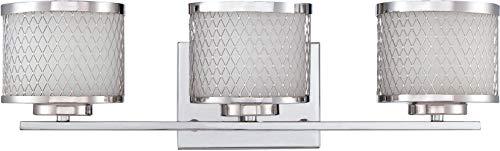 Craftmade 16621CH3 Euclid Metal Mesh Vanity Wall Lighting, 3-Light, 180 Watts, Chrome (21