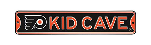 (NHL Hockey Officially Licensed STEEL Kid Cave Sign-Decor for sports fan bed room! (Philadelphia Flyers))