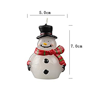 3D Snowman Silicone Candle Molds Decorating Silicone Mold for Christmas Candle Mold Aroma Gypsum Resin Crafts Mould