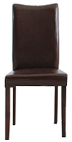 24091044+8540151 Shino Brown Bi-Cast Leather Dinning Chair, Set of 2