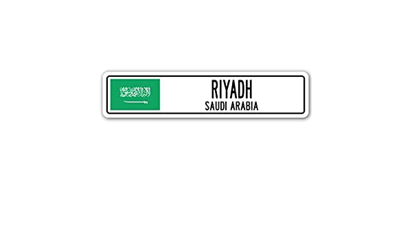 Amazon com: Riyadh, Saudi Arabia Street Sign Saudi Arabian Flag City