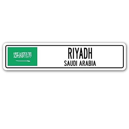 Amazon com: Riyadh, Saudi Arabia Street Sign Saudi Arabian