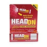 HeadOn - Apply Directly to Forehead Sinus Headache Relief .2 oz 5.67 g (Scratch & Dent Item))