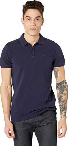 Scotch & Soda Men's Classic Garment-Dyed Pique Polo Navy XX-Large