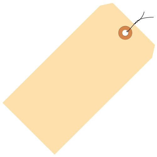 Pack of 500 7-1//2 x 3-3//4 15 Point Manila Partners Brand PG10093 Jumbo Pre-Wired Shipping Tags