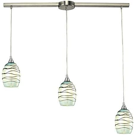 Elk Lighting 31348 3L-MN Vines Collection 3 Light Chandelier, 36 x 36 x 8 , Satin Nickel