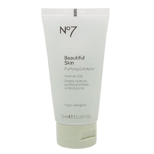 Boots No7 Beautiful Skin Purifying Exfoliator, Normal / Oily 2.5 oz (75 ml) (Pack of 3)