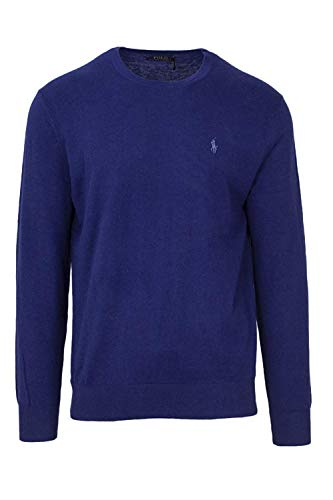 Polo Ralph Lauren Men's Big & Tall Crew Neck Cashmere Blend Pullover Sweater (2X Big, Freshwater)