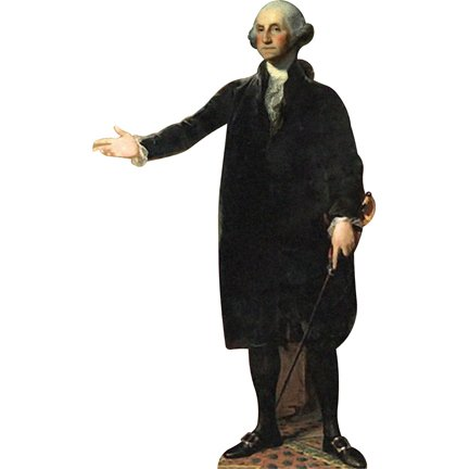 H25001 George Washington Cardboard Cutout Standup