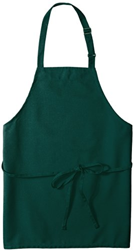 Hunter Green Bib Apron - Uncommon Threads Unisex Adjustable No Pocket Restaurant Bib Apron, Hunter, One Size