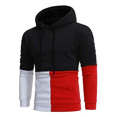 Noir Tee Sweat Sport Manteau Vestes Hiver C Couture Longues Manches Homme Blouse Couleur Printemps À Outwear Itisme Veste Automne Top Tops Capuche Ra6Wq4