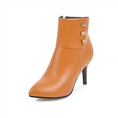 Heart&M Damen Schuhe Kunstleder Herbst Winter Modische Stiefel Stiefel Stöckelabsatz Spitze Zehe Booties Stiefeletten Reißverschluss Für Normal gray
