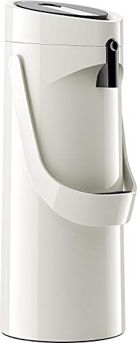 Emsa GmbH 515706 Ponza ISO Pump Jarra 1, 9 L, Acero Inoxidable, 17 x 16.5 x 39 cm, Acero Inoxidable, Weiß, 17 x 16.5 x 39 cm