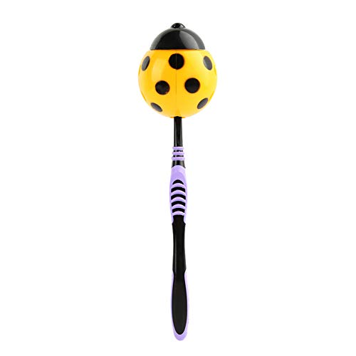 BeimYcW Lovely Ladybug Home Bathroom Suction Cup Wall Mounted Toothbrush Holder Rack Yellow